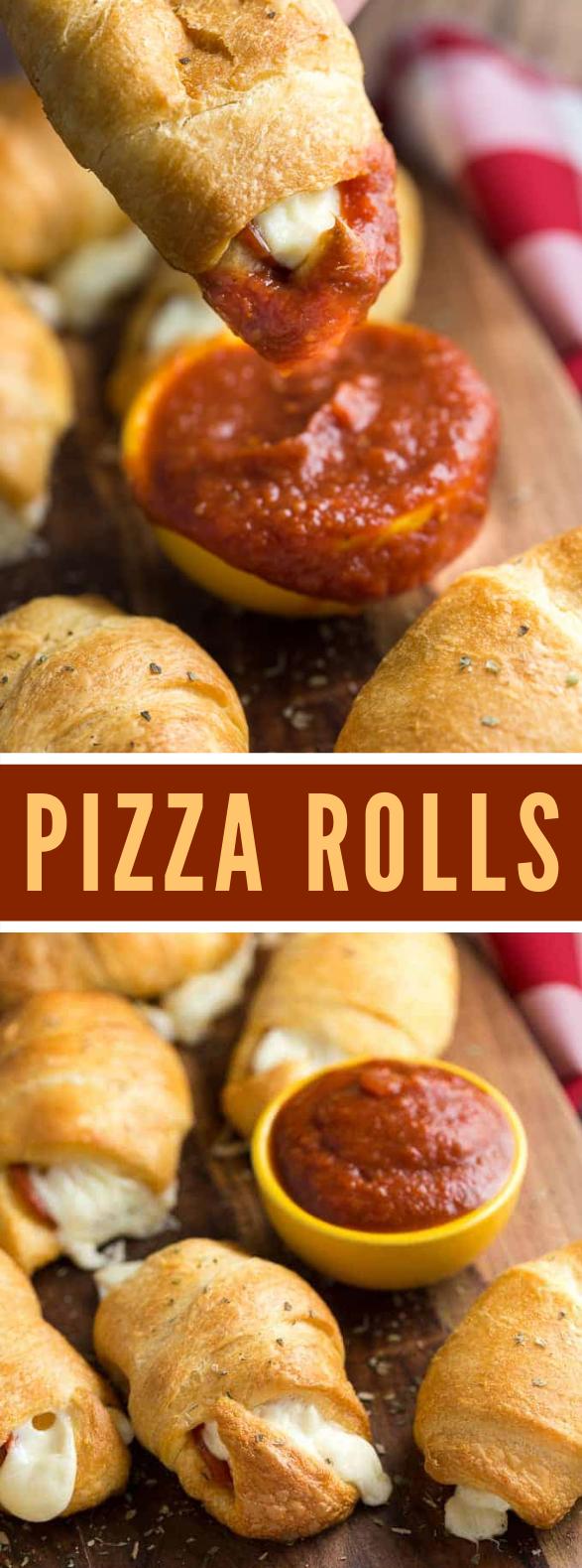 Pizza Rolls #appetizers #kidsfriendly
