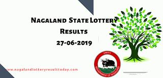 Nagaland State Lottery 27-07-2019