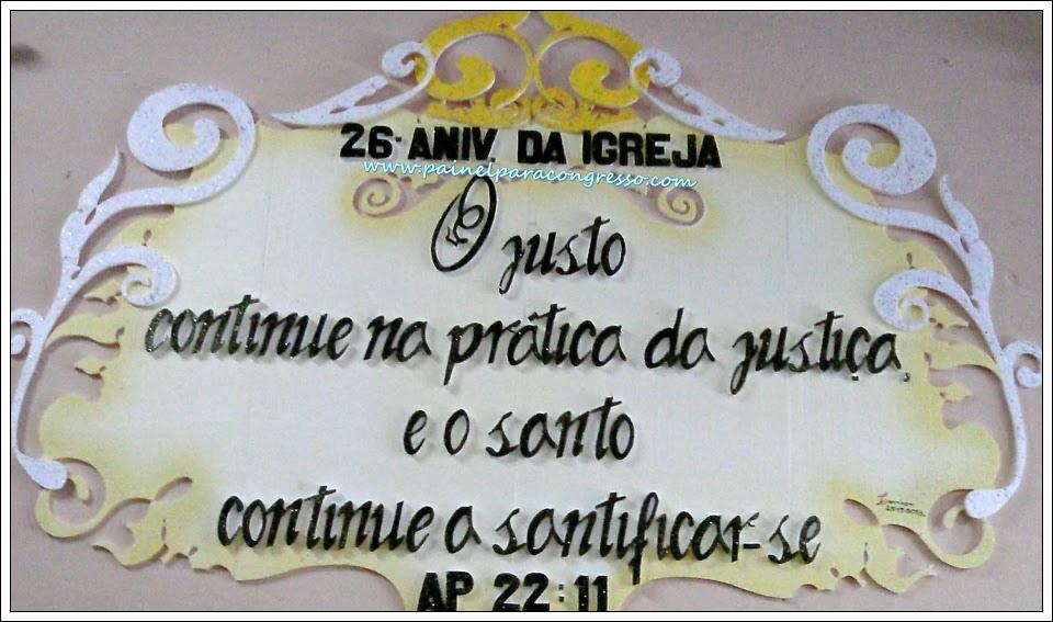 Aniversário da igreja evangélica  /  Apocalipse 22:11