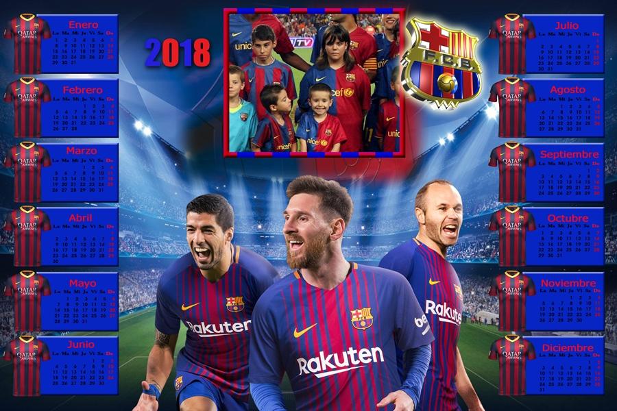 Felicitaciones De Navidad Del Fc Barcelona.Calendarios Para Photoshop Calendario Del 2018 Del F C