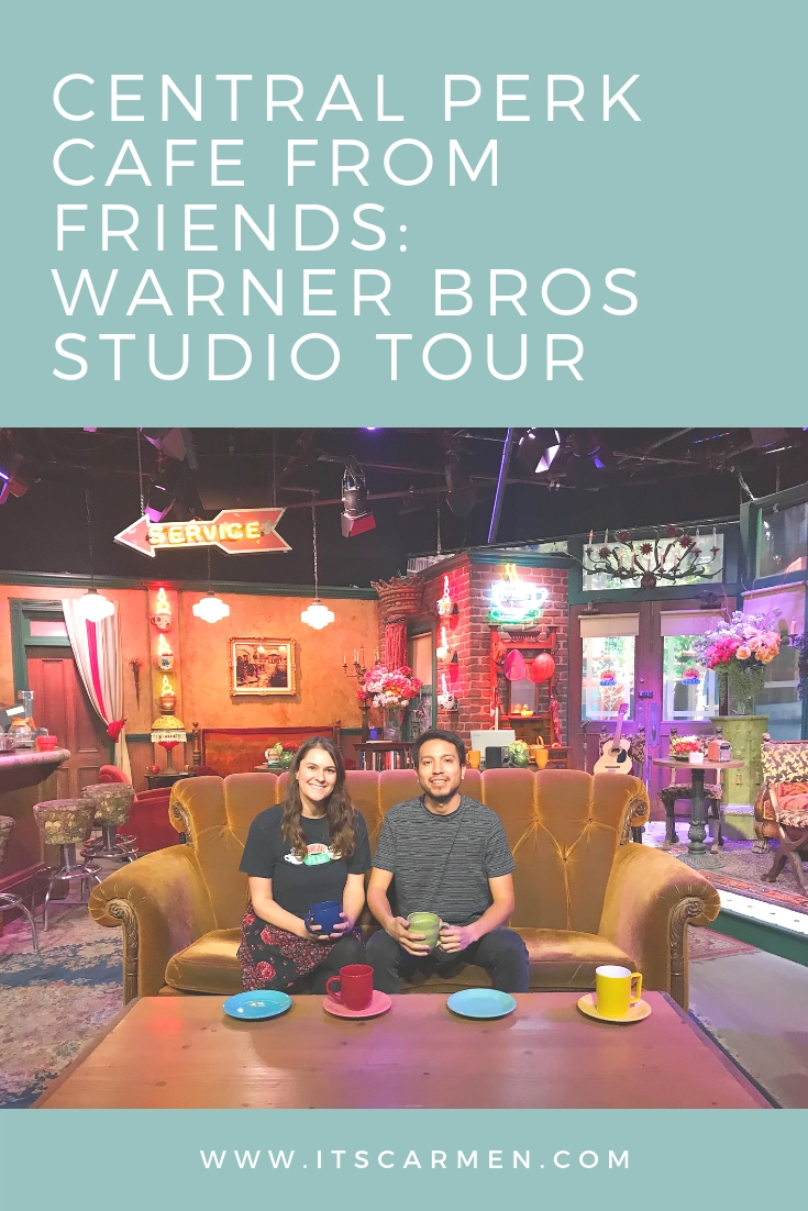 Get your photo taken on the Central Perk Cafe set replica. You can pose on the couch with a Friends coffee mug. Warner Bros Studio Tour