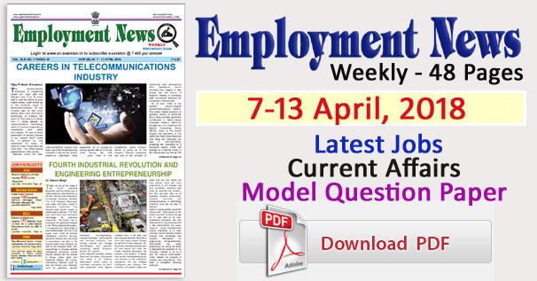 Employment news pdf latest