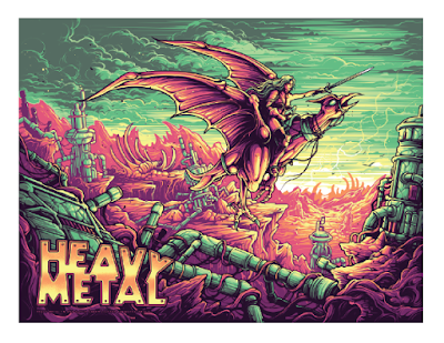 Heavy Metal Regular Edition Screen Print by Dan Mumford x Incendium