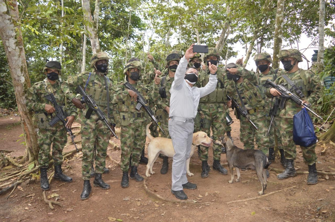 Consejero Presidencial, Rafael Guarín, visitó las tropas de la Fuerza de Tarea Conjunta Omega