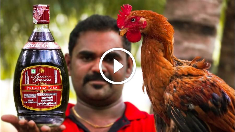 AMERICAN RUM CHICKEN | Foreign Country Traditional Cooking | World Food Tube