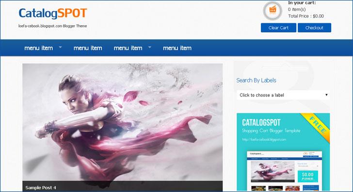 Daftar Koleksi Template Blogger untuk Toko Online