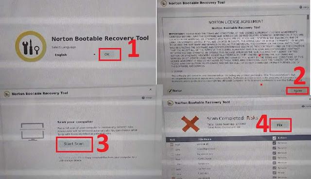 شرح أسطوانة norton bootable recovery tool و حل مشكلة الحاسوب لا يقلع بسبب الفيروسات