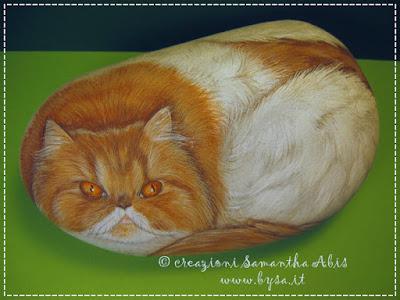 Sassi dipinti gatti. Prezzi persiani