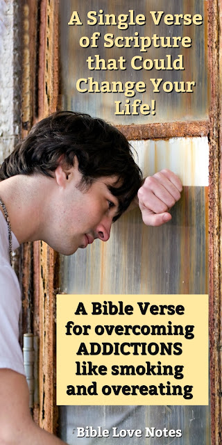 Are you struggling with an addiction? This Bible verse can help! #BibleLoveNotes #Bible #Devotions
