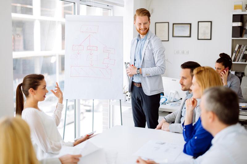 Team planning meeting