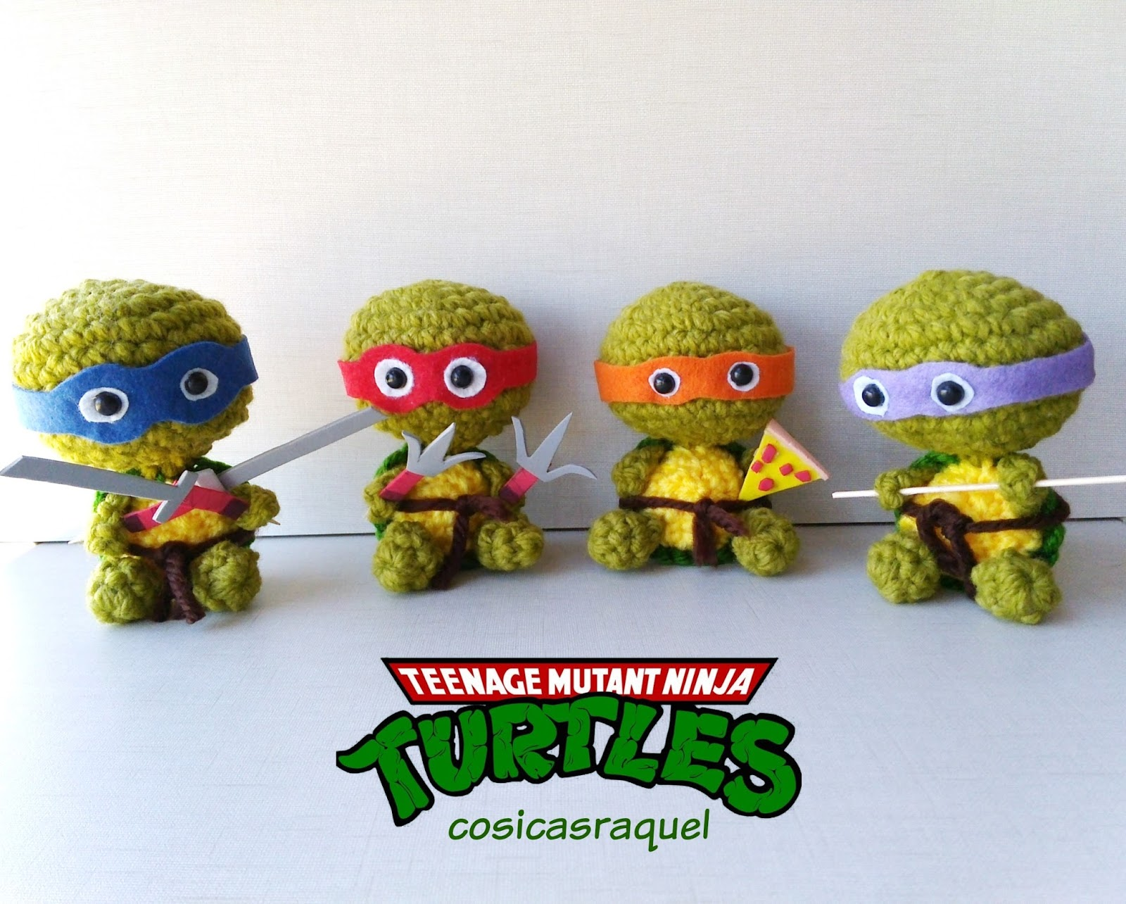 cosicasraquel: Tortugas Ninja Amigurumi