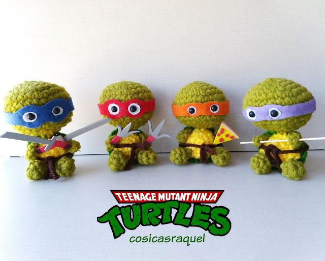 Amigurumi Tortuga Ninja Paso A Paso : cosicasraquel: Tortugas Ninja Amigurumi