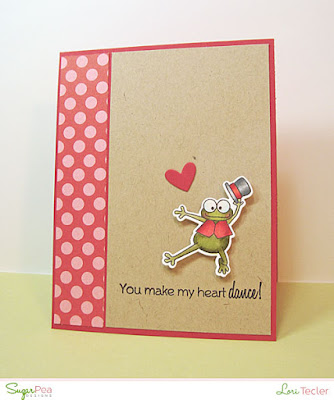 You Make My Heart Dance card-designed by Lori Tecler/Inking Aloud-stamps and dies from SugarPea Designs