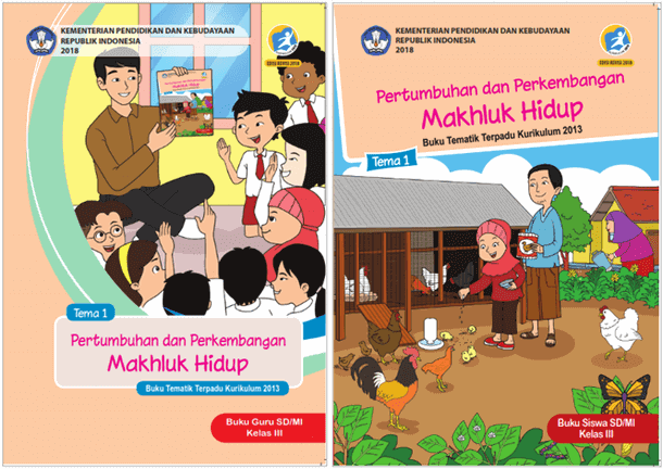 Buku Guru dan Siswa Revisi 2018 SD MI Kelas 3 Tema 1 - Pertumbuhan dan Perkembangan Makhluk Hidup