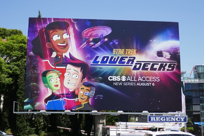 Star Trek Lower Decks series billboard