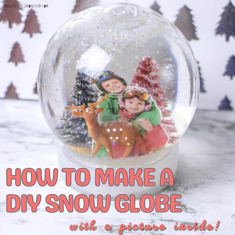 DIY Snow globe winter craft for kids