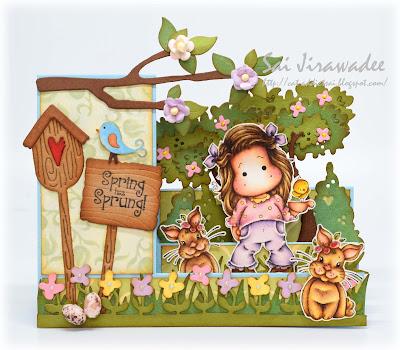 Magnolia Springtime Step Card
