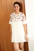Lavanya Tripathi in Summer Style Spicy Short White Dress at her Interview  Exclusive 233.JPG