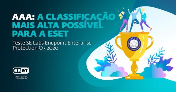ESET vence o principal prémio dos SE Labs' Enterprise Endpoint Protection