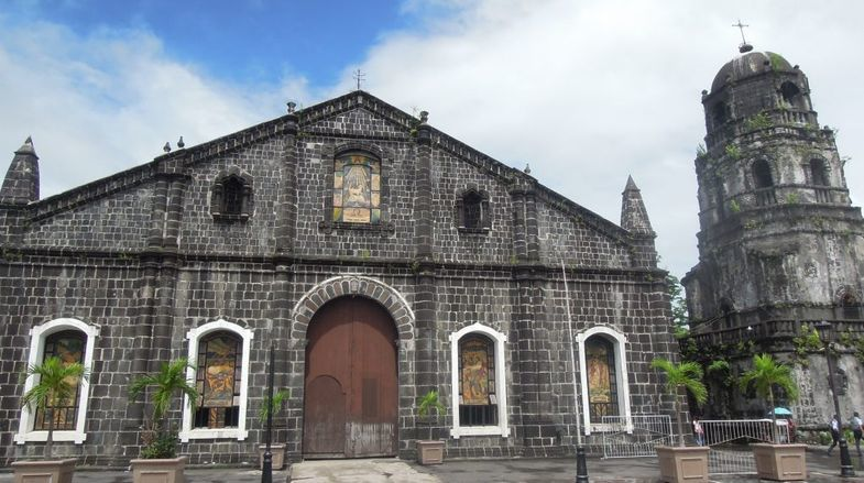 Facade of Tabaco Church in Albay