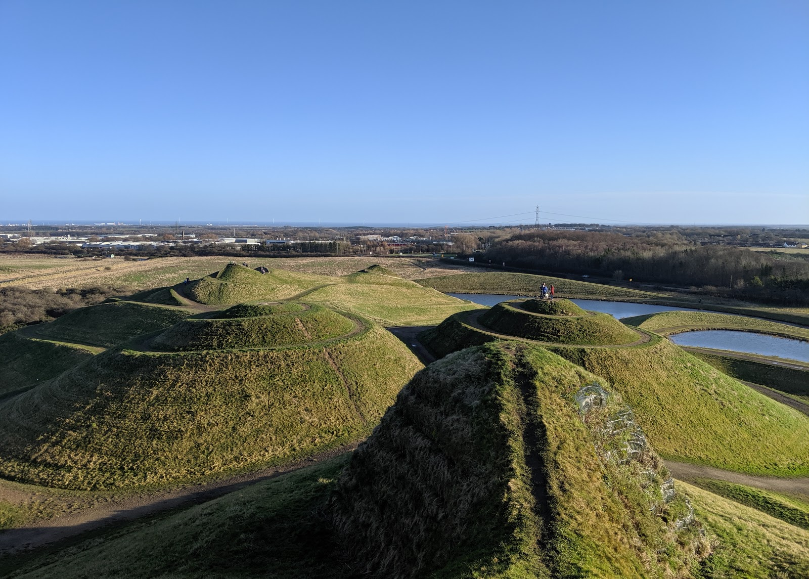 A Guide to Visiting Northumberlandia - view of North Sea from top