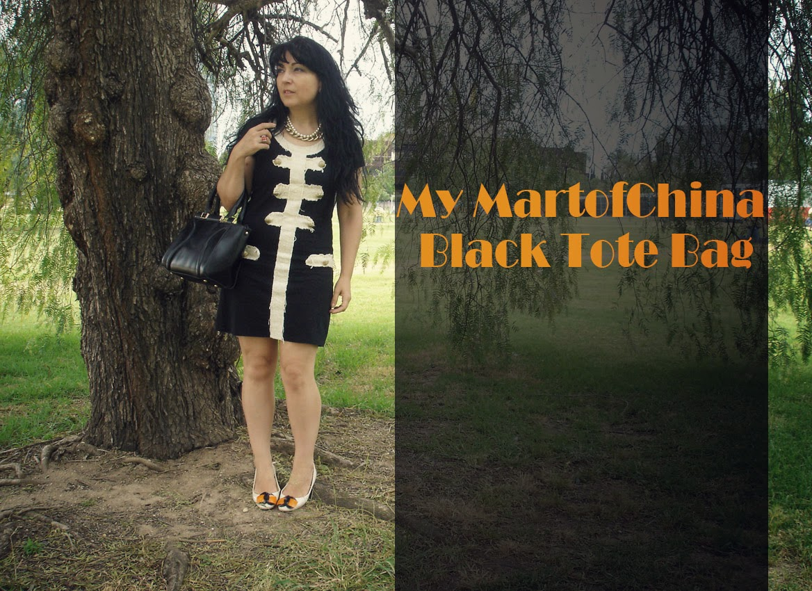 MartofChina+Black+Tote+Bag