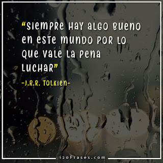 Siempre hay algo bueno en este mundo por lo que vale la pena luchar - J.R.R. Tolkien