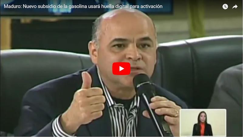 Maduro anuncia que venta de gasolina será con Carnet y Huella digital