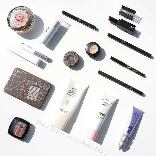 Types of makeup tested with the Glossier Milky Jelly cleanser