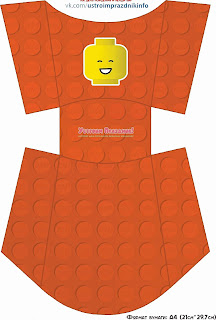 Cajas para Patatas Fritas para Fiesta de Lego para Imprimir Gratis.