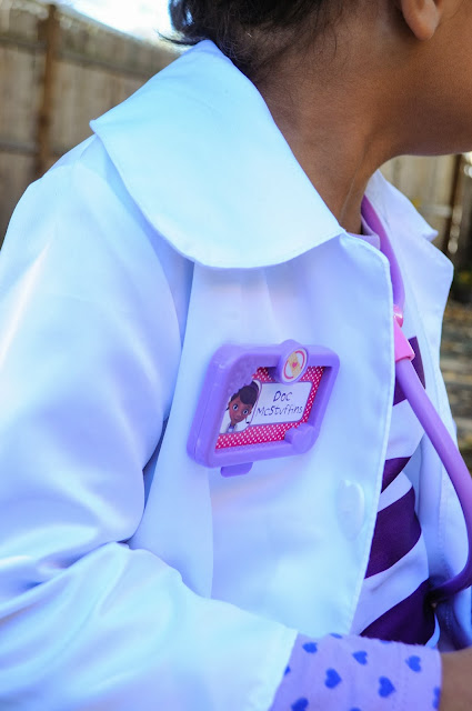 Name Tag on Doc McStuffins Costume