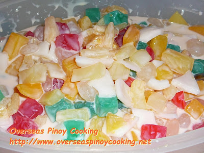 Buko Fruit Salad - Method