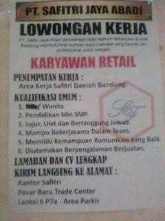 Lowongan Kerja Pasar Baru Bandung 2020 Terbaru