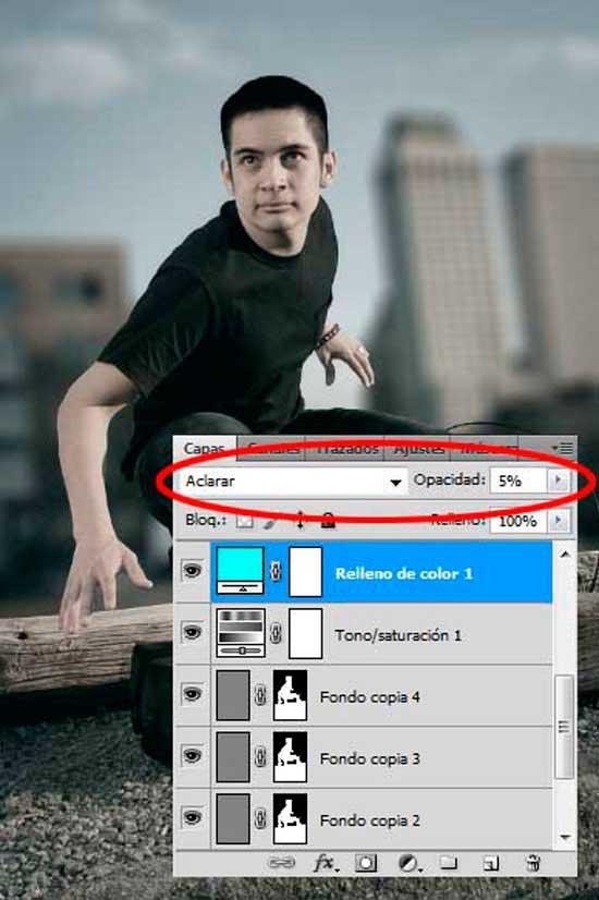 Tutorial Photoshop en Español Efecto Cine Paso 08