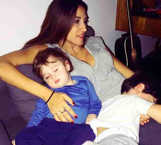 Rouba Saadeh With Her Two Sons