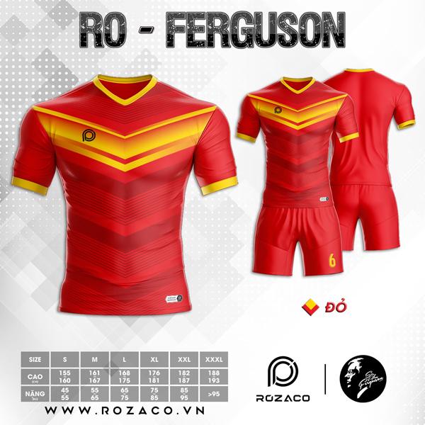 Áo Không Logo Rozaco RO-FERGUSON Màu Đỏ