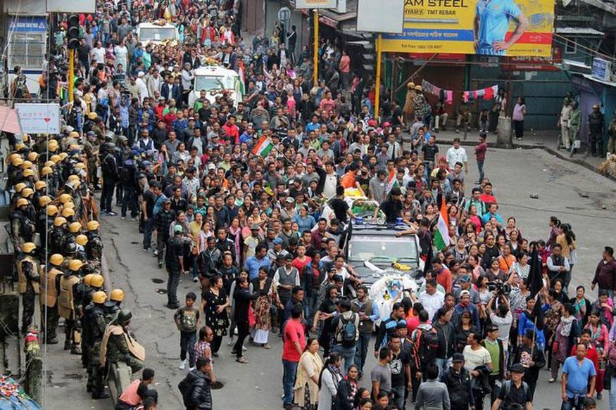 Trinamool-GJM Clash in Darjeeling