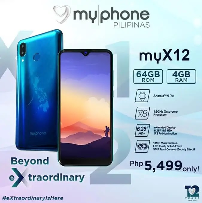 MyPhone myX12 Unveiled for Php5,499