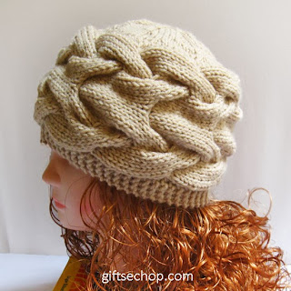 Knit Cabled Hat PDF Pattern- Knitting Pattern