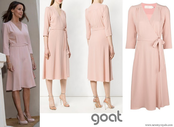 Princess Marie wore GOAT ballerina wrap dress