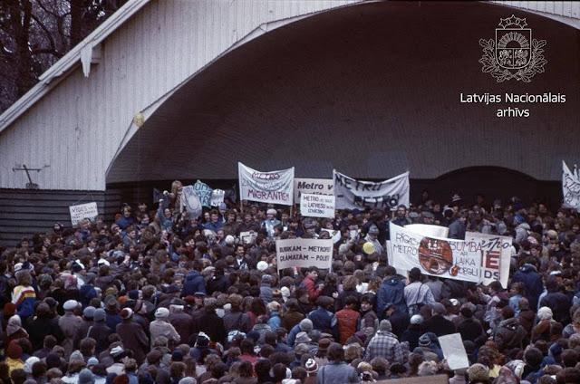 27 апреля 1988 года. Рига. Парк Аркадия. Митинг против строительства метро в Риге