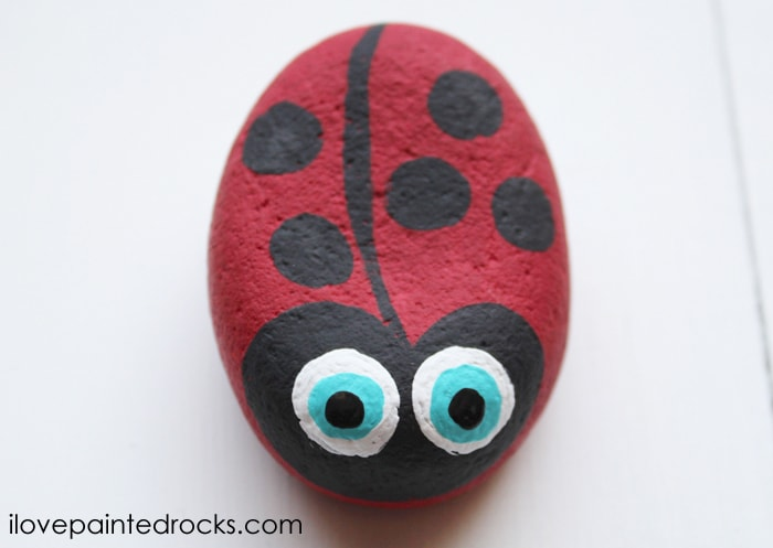how to make a ladybug painted rock