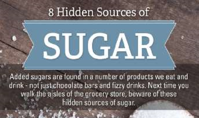 8 Hidden Sources of Sugar #infographic