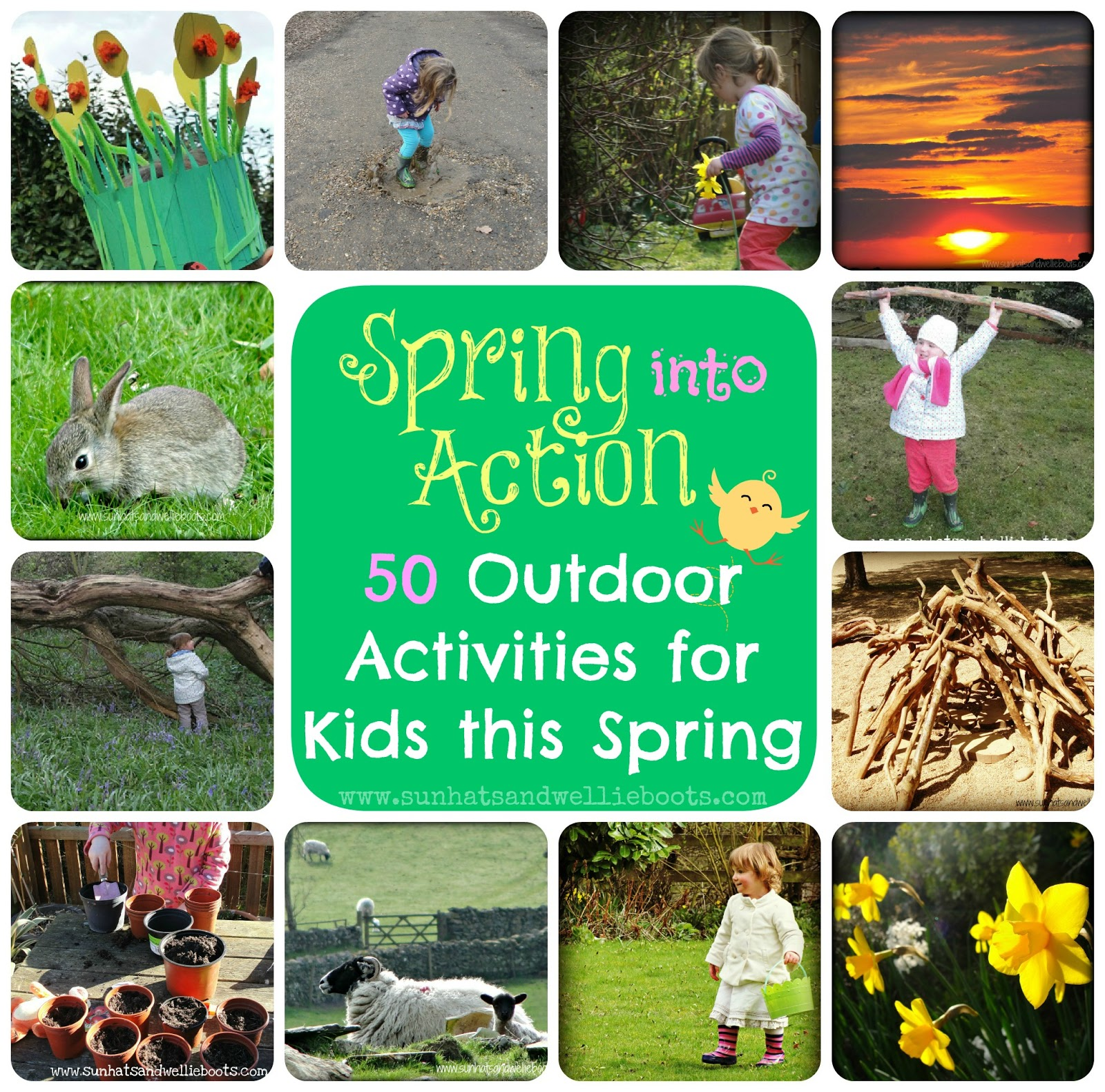 Sun Hats & Wellie Boots 50 Outdoor Activities for Kids this Spring