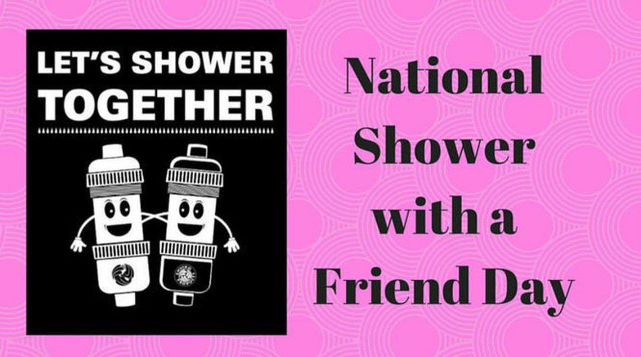 National Shower with a Friend Day Wishes Beautiful Image