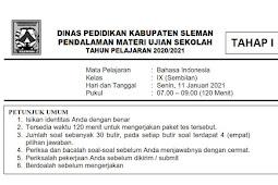 Soal & Kunci Jawaban TPM Ujian Sekolah/ ASPD SMP Kabupaten Sleman 2021 IPA Tahap 1 & 2