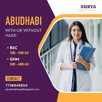 URGENTLY REQUIRED STAFF NURSES TO ABUDHABI