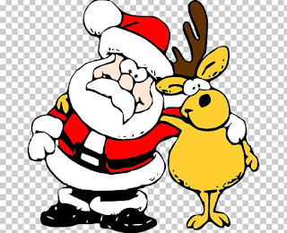 Santa claus reindeer My Merry Christmas gift for you By itravelinitaly.com travelers from Italy