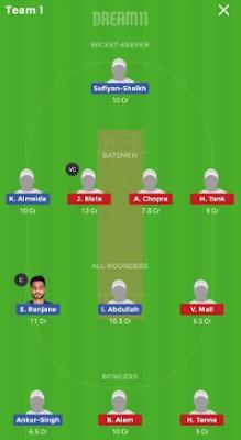 AA vs SS Dream11 team prediction