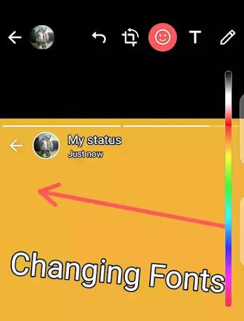 font style of whatsapp status